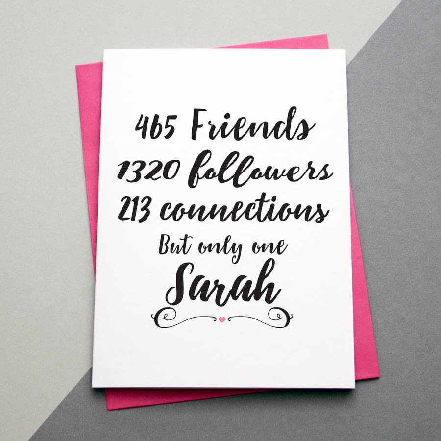 Social Media Birthday Or Thank You Card By A Is For Alphabet