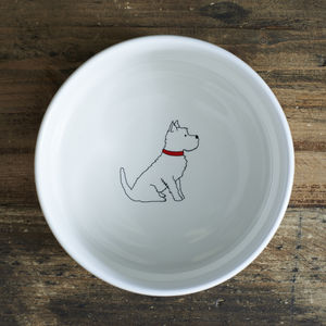 Westie / West Highland Terrier Dog Bowl