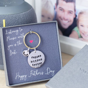 Musical Genres Personalised Keyring In Gift Box