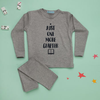 Childrens Pyjamas Just One More Chapter Print