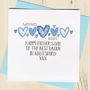 Personalised Best Dad Or Daddy In… Father's Day Card - what's new