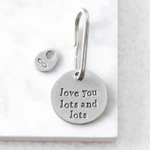 'Love You Lots And Lots' Keyring