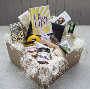 'Chin Up' Deluxe Hamper With Elderflower Gin - hampers