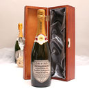Personalised Mr And Mrs Champagne With Pewter Label
