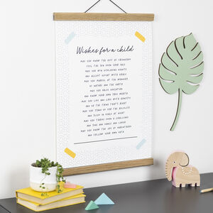 Personalised Christening And Nursery Print