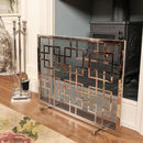 Kensington Mirror Reflecting Footed Fire Screen