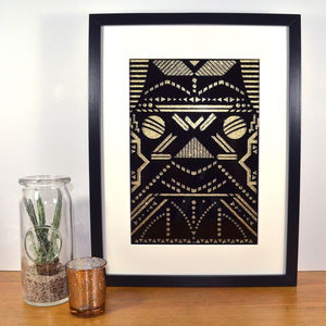 Contemporary Art Deco Inspired Tribal Laser Cut