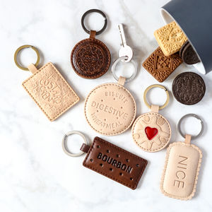 Leather Biscuit Keyring