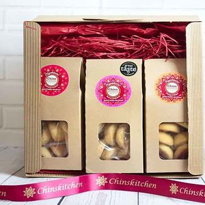 Spiced Indian Shortbread Gift Set - christmas food & drink