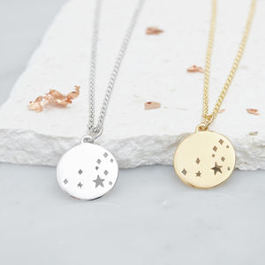 Leo Constellation Necklace Silver, Gold Or Rose