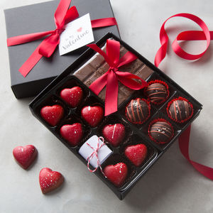 Handmade Chocolate Selection Box With Secret Message - flowers & chocolates with a twist