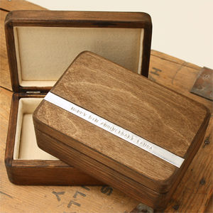 Personalised Vintage Style Wooden Anniversary Box - boxes, trunks & crates