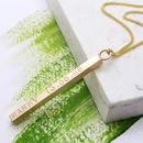 Personalised 9ct Solid Gold Necklace