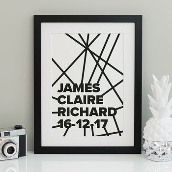 Personalised scandi-style graphic print