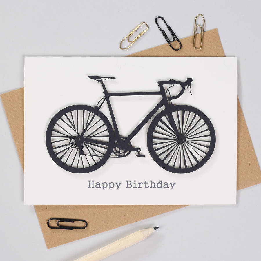 personalised cyclists papercut bicycle birthday card by bombus – Bicycle Birthday Cards