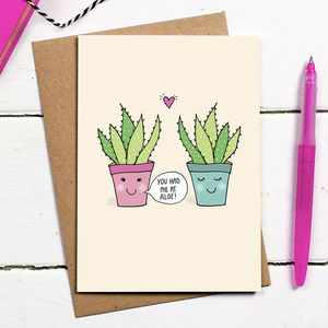 You Had Me At Aloe Card - valentine's cards