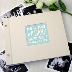 Personalised Typographic Wedding Photo Album - personalised wedding gifts