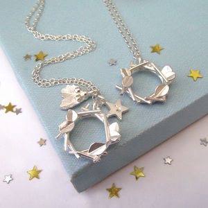Christmas Garland And Holly Necklace - jewellery sale