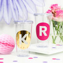 Personalised Circle Initial Drinks Tumbler
