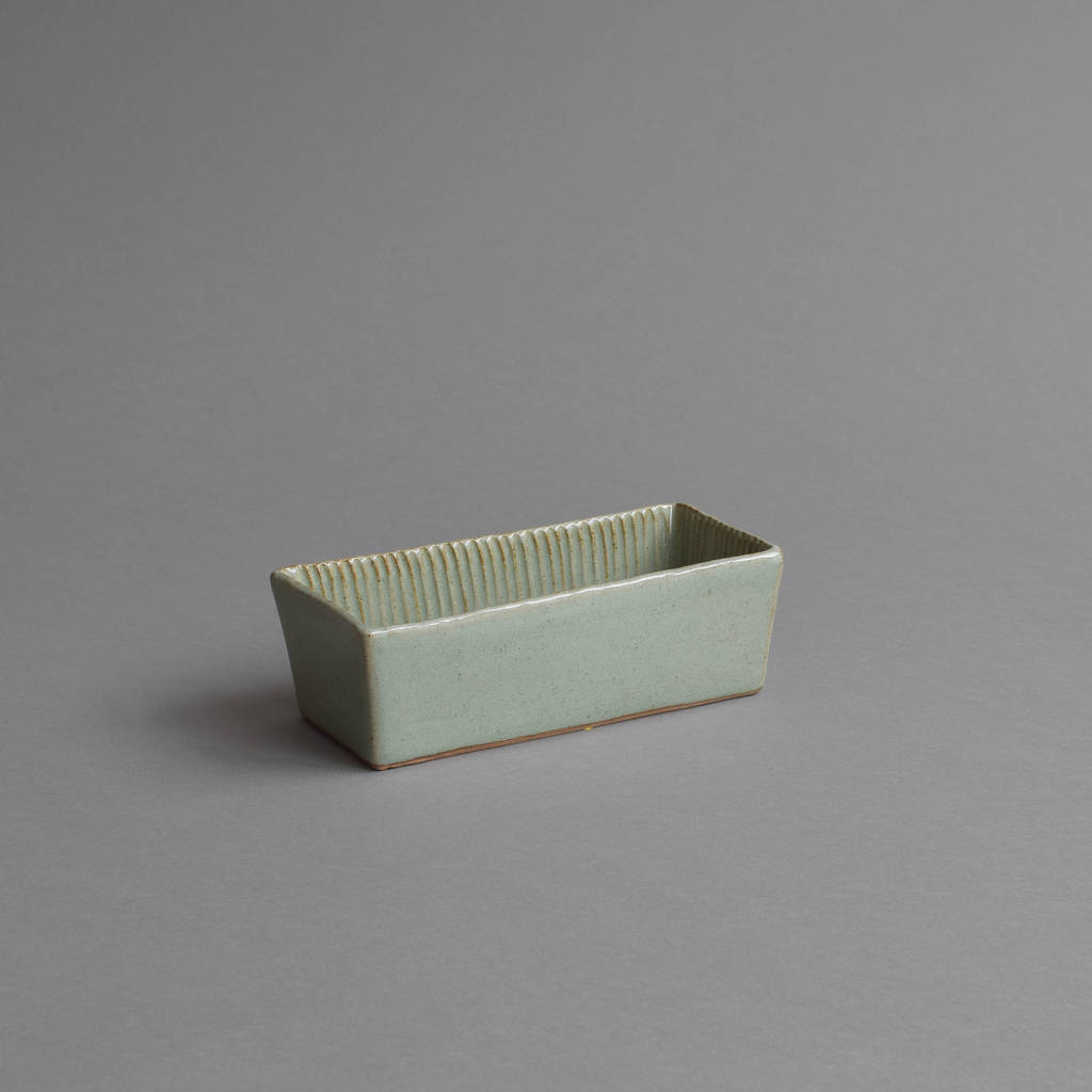 Stoneware Fluted Loaf Pan By Nom Living