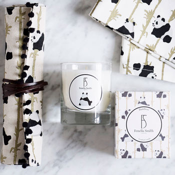 Panda And Bamboo Scented Candle