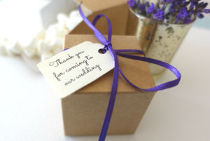 Pack Of Ten Favour Boxes With Personalised Tags - winter sale