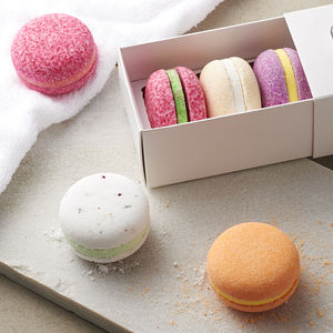 Bath Macaron Fizz Bombs - gifts for mothers