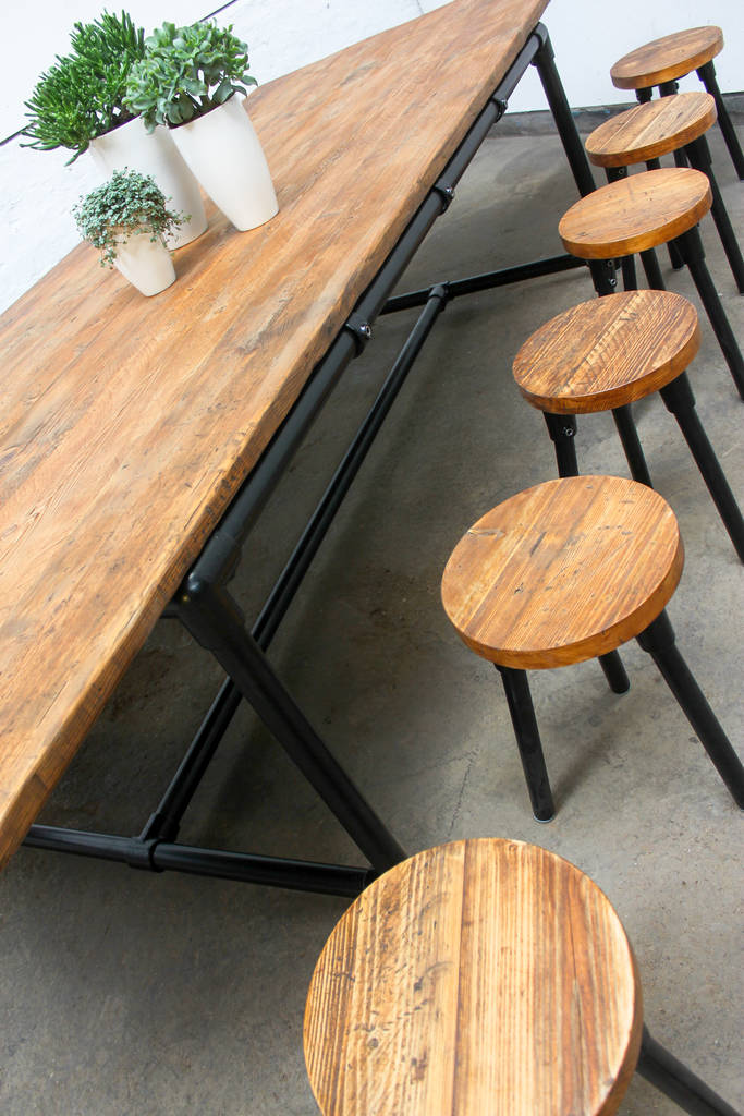 Nyn Large Dining Table With Bench And Six Stools