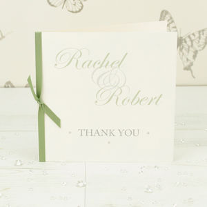 10 Personalised Kensington Thank You Cards