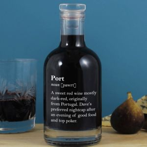Funny Personalised Port Definition Decanter