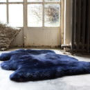 Luxurious Midnight Blue Sheepskin Rug