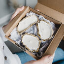 Recycled Oyster Shell And Gold Candle Gift Set