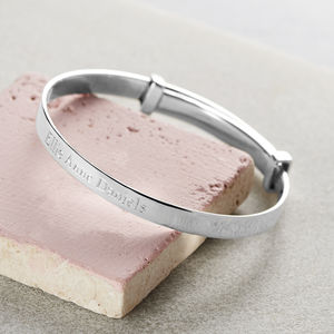 Child's Silver Expanding Bangle - personalised