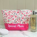 Personalised Floral Wash Bag