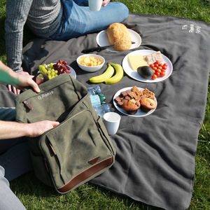 Personalised Family Picnic Bag And Blanket