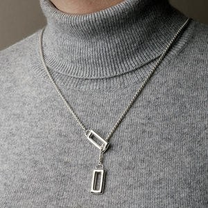 Silver Scandi Lariat - necklaces & pendants