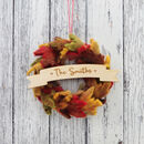 Personalised Autumnal Felt Leaf Wreath
