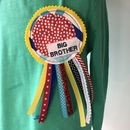 Handmade Little Brother/ Big Brother Rosette Badge