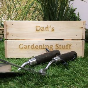 Personalised Garden Tools And Trug Set - gardener