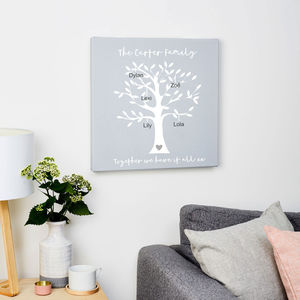 Personalised Family Tree Canvas Print