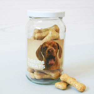 Personalised Photo Pet Storage Treat Jar - food, feeding & treats
