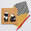 Handmade Birthday Pandas Personalised Card