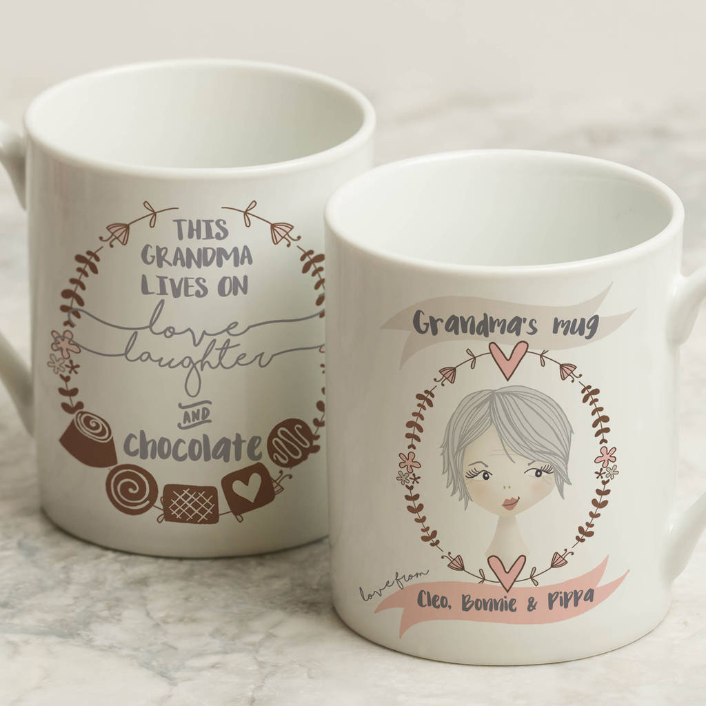 personalised granny mug for grandma by fromlucy