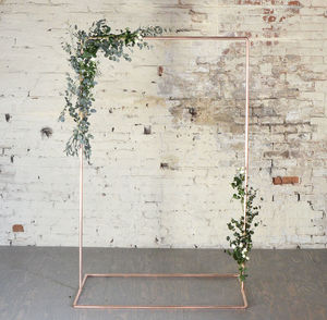 Copper Wedding Backdrop Frame For Flowers And Garlands - room decorations