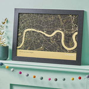 Personalised London City Street Map Print - maps & locations