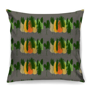 Dusk Feather Buds Designer Cushion + Waterproof - on trend: mountains & contours