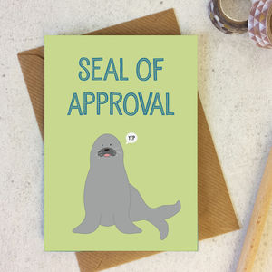Seal Of Approval Funny Well Done Congratulations Card