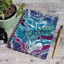 Dragonfly Lily A5 Recycled Spiral Sketchbook Journal