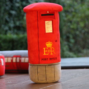 Post Box 3D Plush Toy Cushion + Internal Storage