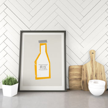 Milk Bottle Print